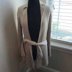 Express Ribbed Long Cardigan Sweater
